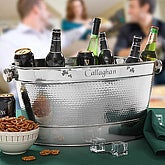 Personalized Stainless Steel Party Tub Cooler - Irish Shamrock Design - 4990
