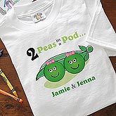 Personalized Twins Kids and Baby Clothes - 2 Peas In A Pod - 5101