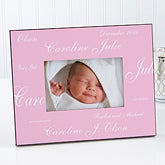Baby picture frames photo albums personalizationmall custom personalized baby picture frame our new arrival collection 5108 negle Image collections