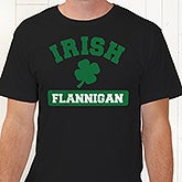 Personalized Irish Pride Shamrock T-Shirt