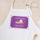 Personalized Apron & Potholder Set - Baked With Love Design - 5139