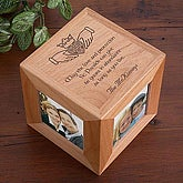 Irish Blessing Personalized Claddagh Photo Cube Picture Frame - 5142