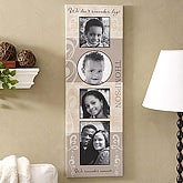 Family Name Photo Collage Personalized Canvas Art - 5145