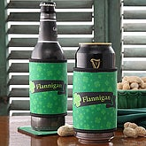 Personalized Irish Pride Foam Can and Bottle Coolers - 5152