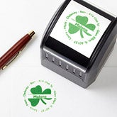 Irish Shamrock Self-Inking Address Stamper