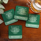 Famous Irish Quotes Personalized Drink Coaster Set - 5160