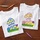 Personalized Kids Easter Clothing - Easter Egg Design - 5165