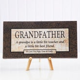 Personalized Grandfather Gift Canvas Art - 5167
