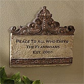 Personalized Wall Plaques - Peace To All Who Enter - 5188