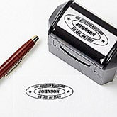 Personalized Self-Inking Address Stamper - Oval Encore - 5191