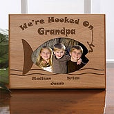 Personalized Fishing Picture Frame - Hooked On You - 5229