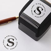 Personalized Self-Inking Address Stamp with Initial - Circle - 5234