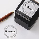 Personalized Self-Inking Address Stamper with Initial - Round - 5235