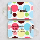 Crazy For Polka Dots© Luggage Tag Set