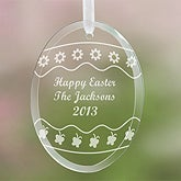 Personalized Easter Glass Suncatcher - Happy Easter Egg Design - 5246