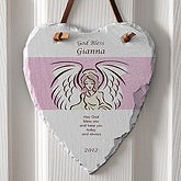 Personalized Heart Slate - Angel Blessings First Communion Gift - 5255