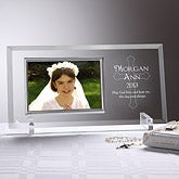 Engraved Glass Communion Picture Frame - 5256