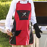 Grill Master Personalized 4pc Apron Set