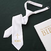 Embroidered First Holy Communion Tie