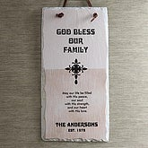 Personalized Slate Plaque - Bless Our Family - 5288