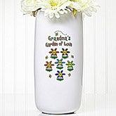 Garden of Love Personalized Ceramic Flower Vase  - 5307