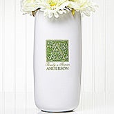Floral Monogram Personalized Ceramic Vase - 5309