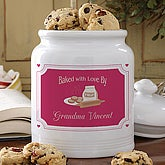 Baked With Love© Personalized Cookie Jar