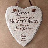 Personalized Slate Wall Plaque - A Mother's Heart Design - 5350