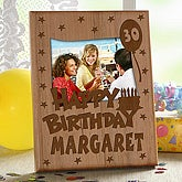 Personalized Birthday Picture Frame - Feature Any Age - 5356