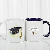 Graduation Cap & Diploma Personalized Ceramic Coffee Mug