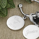 Personalized Silver Plated Key Ring  - 5407
