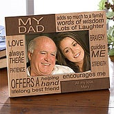 Personalized Father's Day Picture Frame - He Is Always There - 5426
