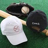 Sports Fan Personalized Baseball Hat - Black