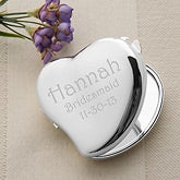Heart Mirror Compact Personalized Bridesmaids Gift - 5445