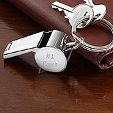 Stainless Steel Personalized Whistle Keychain - 5449