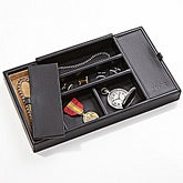 Personalized Leather Men's Watch & Jewelry Valet - 5451