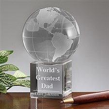 personalized crystal globe keepsake gift 5478