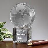 Personalized Crystal Globe Keepsake Gift - 5478