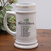Top 10 Golfers Personalized Beer Stein  - 5487