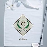 Golf Pro Initial Crest Personalized Golf Towel - 5497