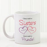 Custom T-Shirts for Sister - My Sister, My Friend Hearts Desgin