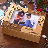 Personalized Best Friends Wood Photo Box - 5516
