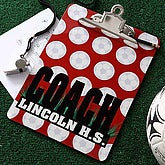 Personalized Soccer Coach Clipboard - 5536
