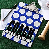 Personalized Baseball Coach Clipboard - 5538