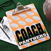 Personalized Football Coach Clipboard - 5548