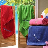 Personalized You Name It Embroidered Beach Towels - 5600