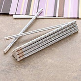 Metallic Silver Pencils - Set of 12 - 5616