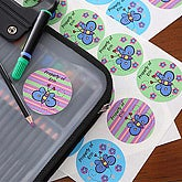 Girls Personalized Butterfly Name Label Stickers - 5639
