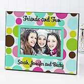 Personalized Polka Dot Picture Frame - 5644