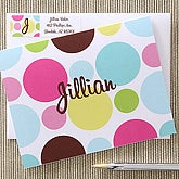 Personalized Note Cards for Girls - Polka Dots - 5645